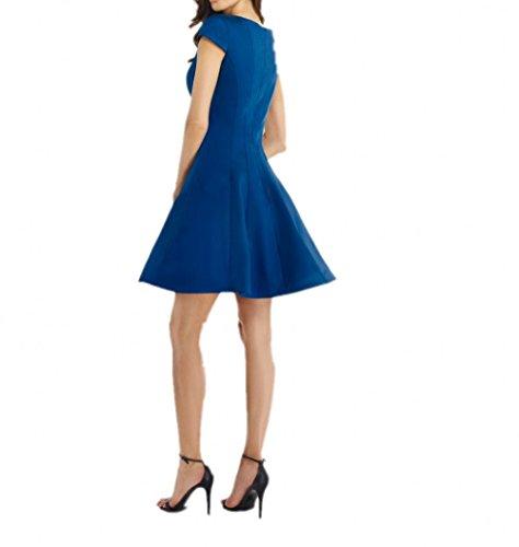 Abschlussballkleider Abendkleider Brautjungfernkleider Partykleider Fuchsia La Braut Satin Festlichkleider Mini Dunkel Schwarz mia nwUnAqZp0