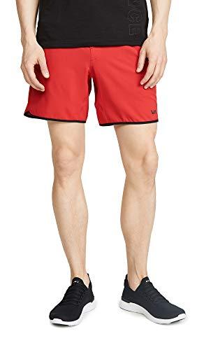 (RVCA Men's Va Sport Yogger 4-Way Stretch Shorts, Red,)