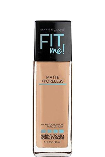Matte Sand (Maybelline Fit Me Matte + Poreless Liquid Foundation Makeup, Soft Sand, 1 fl. oz.)