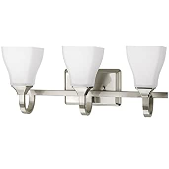 Delta Olmsted 3 Light 8 875 In Brushed Nickel Square