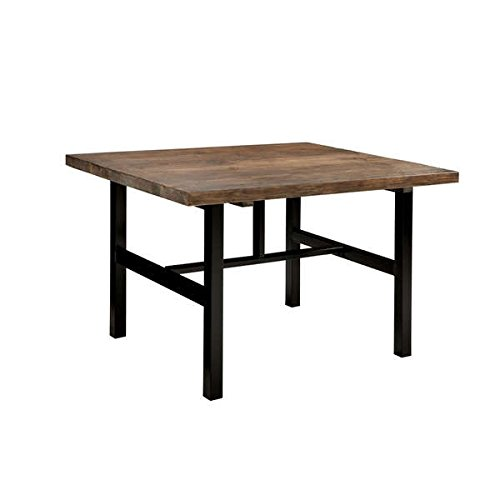 Dining Room/ Dining Table, Contemporary Pomona Rustic Natural Metal and Reclaimed Wood 48-inch Table - Assembly Required AMBA1720. 48