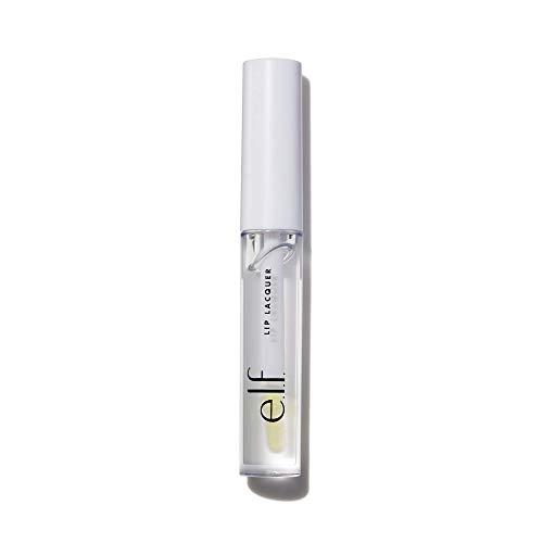 e.l.f, Lip Lacquer, Moisturizing, Shiny, Non-Sticky, Long Lasting, Provides Maximum Color, Glides On, Clear, 0.08 Fl Oz