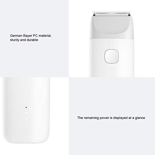 Maquinilla de afeitar eléctrica USB recargable original Xiaomi para máquina de cortar el pelo para bebé (blanco): Amazon.es: Belleza