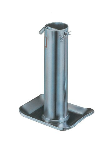 Bulldog F2000 0101 Silver Universal Trailer Jack Foot Plate (for 2,000/5,000 lbs. Jacks)