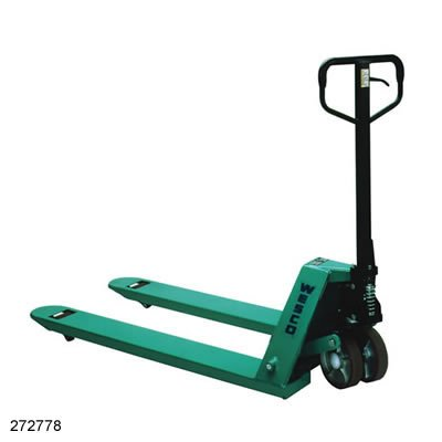 Wesco Industrial Products 272775 CPII Pallet Truck with Handle, Moldon Nylon Wheels, 5500 lb. Load Capacity, 63