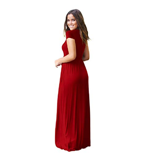 Xmnds Womens Maxi Dresses Skull For Women Tie For Women Red Wedding