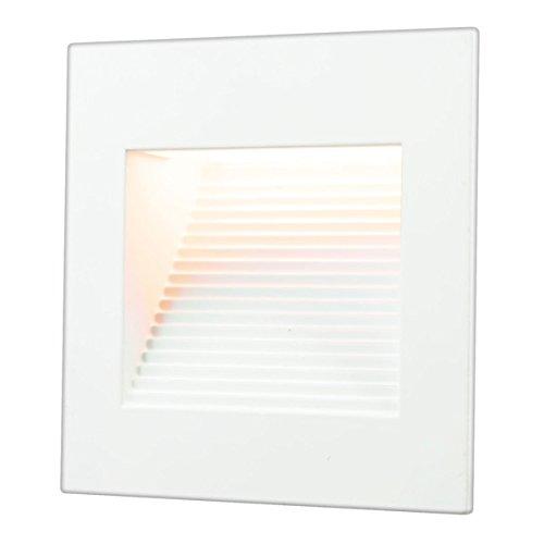 Inner Led (LED Inner Square Step Light, 120 Volt Operation, 1 Watt, 3000 K, Matte White,)