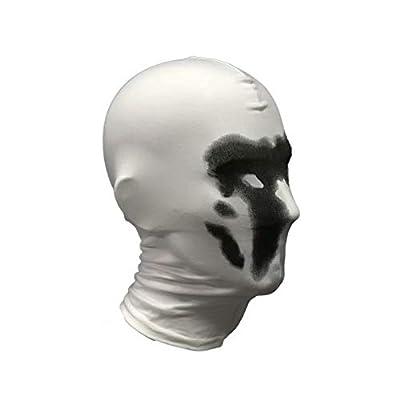 Watchmen Rorschach Mask, Digital Print Headgear Full Head Mask, Cosplay Halloween Costume Props White: Clothing