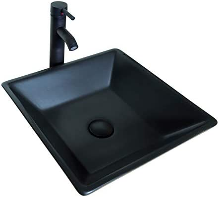 Sliverylake Porcelain Ceramic Bathroom Vessel Sink Black