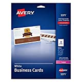 Avery 5371 Printable Microperf Business Cards, Laser, 2 x 3 1/2, White, Uncoated (Pack of 250)