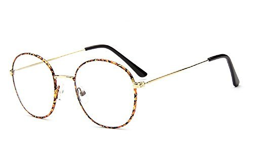 Caixia 9728 Lightweight Wire Frame Thin Rim Round Eyeglasses Small Size (brown tortoise, 52mm - Frames Tortoise Eyeglasses