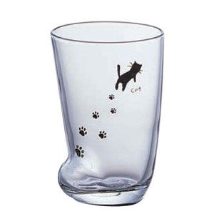 Cat's Paw Footprint Glasses 2 Sets 225ml/7.6fl Oz [Made in Japan] (Japan Import) - Paws Milk Chocolate