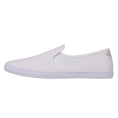 Soviet Lad Herren Slipper Schuhe Sneaker Turnschuhe Freizeit Stoffschuhe Weiß