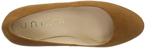 Unisa Numar para Couro Marrón de Zapatos Mujer Tacón KS 17 ffdrqwY