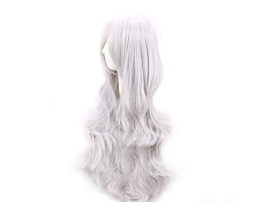 YAXAN Women League Of Legends LOL Character Long Straight Hair Cosplay Shawl Hair Wig Wig For Women (Color : Silver, Size : -