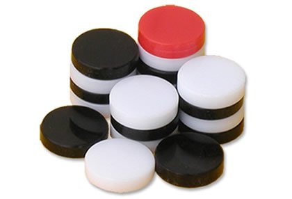 Great Master Plastic Carrom coins (5mm)