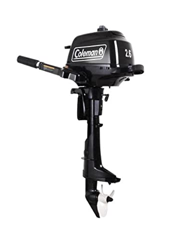 Coleman 2.5HP Manual Start Outboard Motor (Black) (Coleman Cylinder Tank)