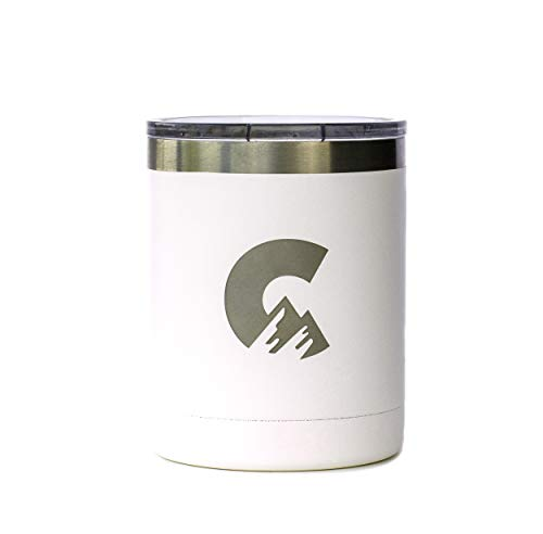 Coal Creek Supply Stainless Steel Vacuum Insulated Tumbler with Lid (White) ()