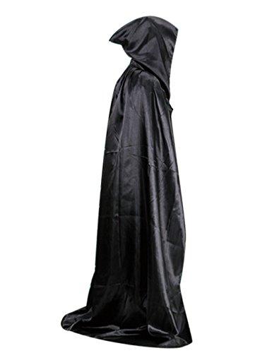 Eshion Black Halloween Cloak Wizard Vampire Devil Death Hoody Cape Theater Prop (Mystical Costumes Cape)