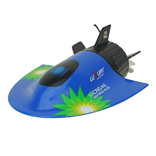 LinHut Bateau télécommandé drôle Haute Vitesse 4WD RC Touring Bateau sous-Marin Modèle Radio Télécommande Jouet Racing Navire Électrique Jouet Cadeau Enfant Bleu pour Les Enfants (Color: Bleu)