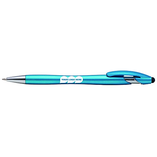 La Jolla Stylus Plastic Pen with Black Ink - 250 Quantity - $0.45 Each - PROMOTIONAL PRODUCT / BULK / BRANDED with YOUR LOGO / CUSTOMIZED. by CloseoutPromo
