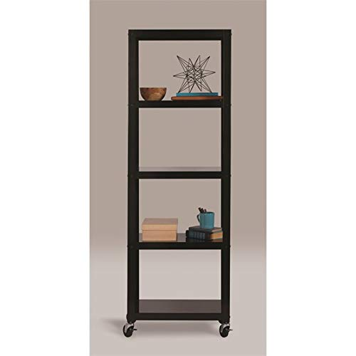 Space Solutions 21752 Home Office Collection Mobile Metal Bookcase, 72