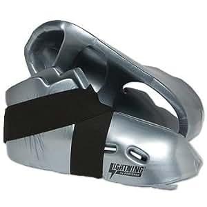 Pro Force Lightning Kicks Sparring Shoes/Footgear - Silver - Size 5-6 | Child Large