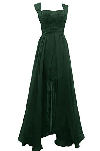 elegante Chiffon Spaghetti nuovo da Dark Gowns damigella per Sunvary d'onore line cinghie Prom A Green abiti Eqgf8wx85R