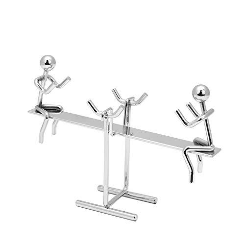 JZENT Seesaw Balance Desk Toy Tumbler Kinetic Art Kill Time Entertainment Decompression Anti-Gravity Physics Teaching Home Decor Gift JN-02 ()