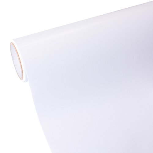 12''x10ft Matte White Repositionable Vinyl Roll Craft Self-adhesive Film for Cutting Plotters & (Self Adhesive Matte Vinyl)