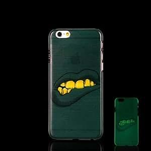 YULIN Funda Trasera - Gráficas/Innovador/Fosforescente - para iPhone 6 Plus Plástico )