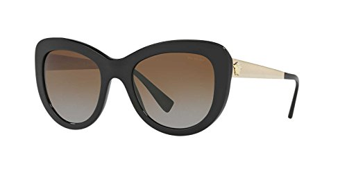 Versace Womens Sunglasses (VE4325) Black/Brown Acetate - Polarized - 54mm by Versace