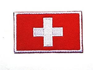 Backwoods Barnaby Switzerland Flag Tactical Patch with Hook & Loop (Swiss, 2
