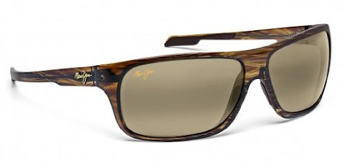 Maui Jim Island Time Striped Rootbeer Frame / HCL Bronze Lenses - - Frames Maui Glasses