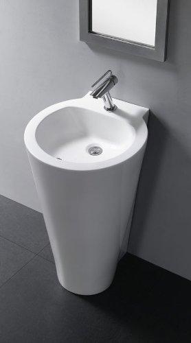 Durazza Modern Bathroom Pedestal Sink 20.1u0026quot;