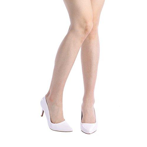 Shoes Kucci High Pointed Women's DREAM Toe Classic Fashion Heel Pumps Dress PAIRS White Pat BwPSEqA