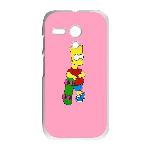 Motorola G Cell Phone Case White_The Simpsons Bart Eytgi ...