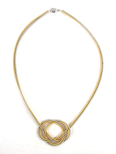 The Island Pearl Stainless Steel Knot Necklace Gold and Silver