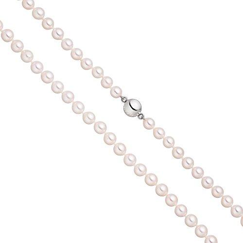 Collier de perles avec fermoir 7mm Perles d'Akoya blanches aimant de en argent sterling 92545cm