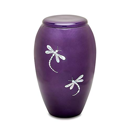(UrnsDirect2U MOP Dragonfly Adult Decorative-urns Purple)