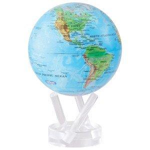6 Blau with Relief Map MOVA Globe by Mova