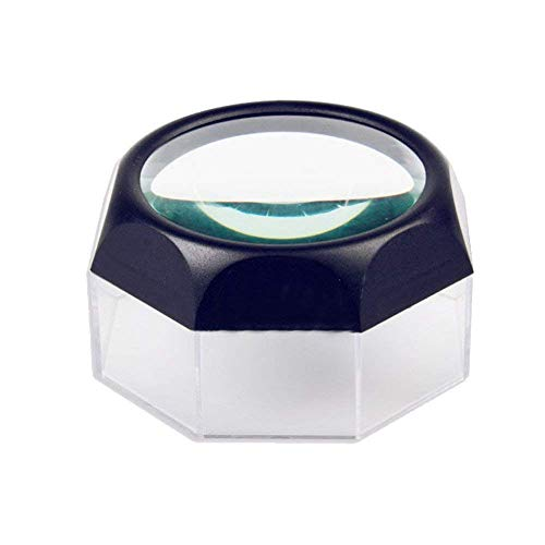 5X Magnifying Glasses Desktop Mini Lens Old Man Reading Portable Optical Glass Stamp Coin Identification Socket Magnifier LIXFDJ Vision Assisted Magnification ()