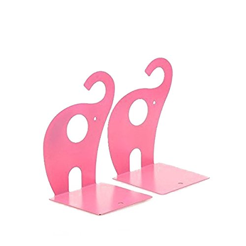 nuolux 1paire Non-Slip Art Elephant Bookends Bookends Pink