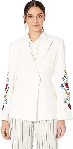 Juicy Couture Women's Embroidered Double Breasted Jacket Angel Large