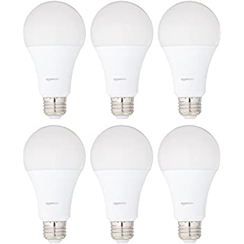 AmazonBasics 100 Watt Equivalent, Daylight, Non-Dimmable, A21 LED Light Bulb, 6-Pack