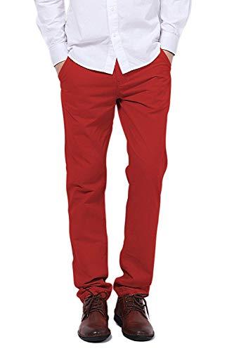 Bolawoo Casuales Marca Slim Con Chinos Colores Hombres Mode Bolsillos Botón  Sólidos Pantalones Para De gfpxrg b0450dcde135