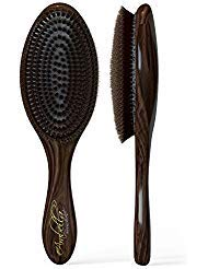 100% Natural Boar Bristle Hair Brush Best Used for Short or Long Hair, Beards- Soft Bristles-professional Salon Quality- For...