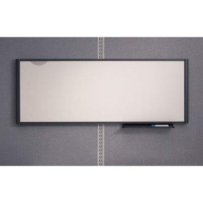 (Quartet Total Erase Workstation Markerboard - 48quot; Width x 18quot; Height - Surface - Graphite Frame - Film - 1 Each)