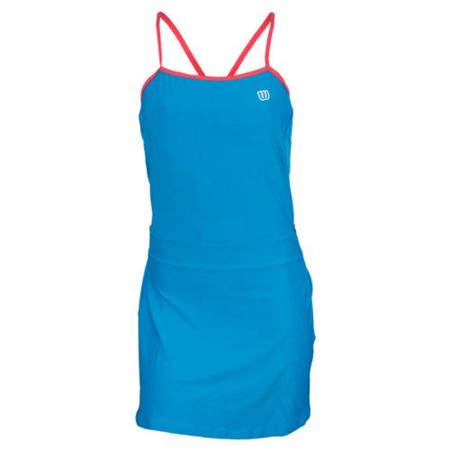 Wilson - Vestido de pádel para mujer, tamaño S, color cyan/rosa: Amazon.es: Ropa y accesorios