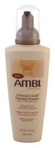 Ambi Even and Clear Foaming Cleanser 6oz Pump (3 Pack)